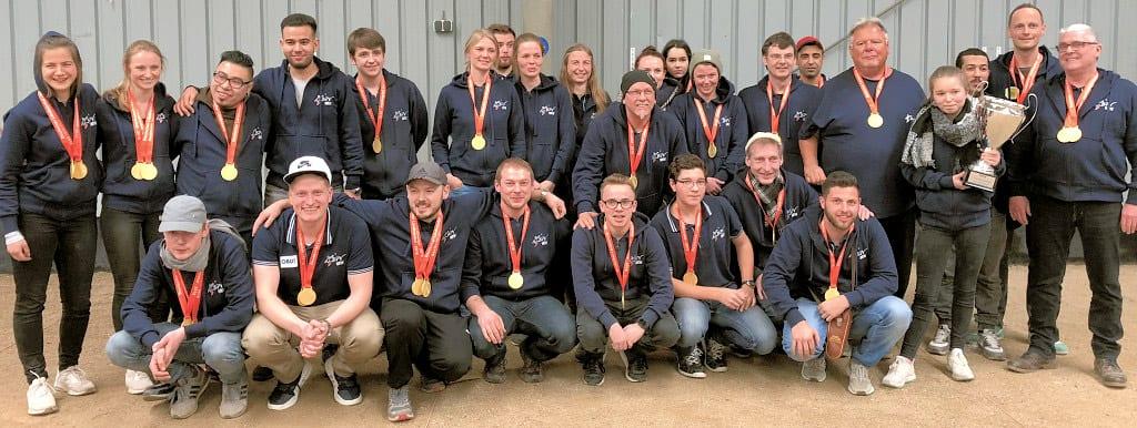 Das gesamte NRW Team bei der Siegerehrung beim Länderpokal 2018