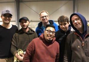 Das siegreiche Team Minhions beim 6-Tete-Turnier in der Düsseldorfer Boulehalle