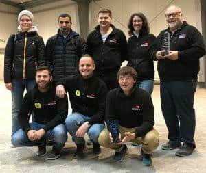 Das Team von Düsseldorf sur place bei der Siegerehrung