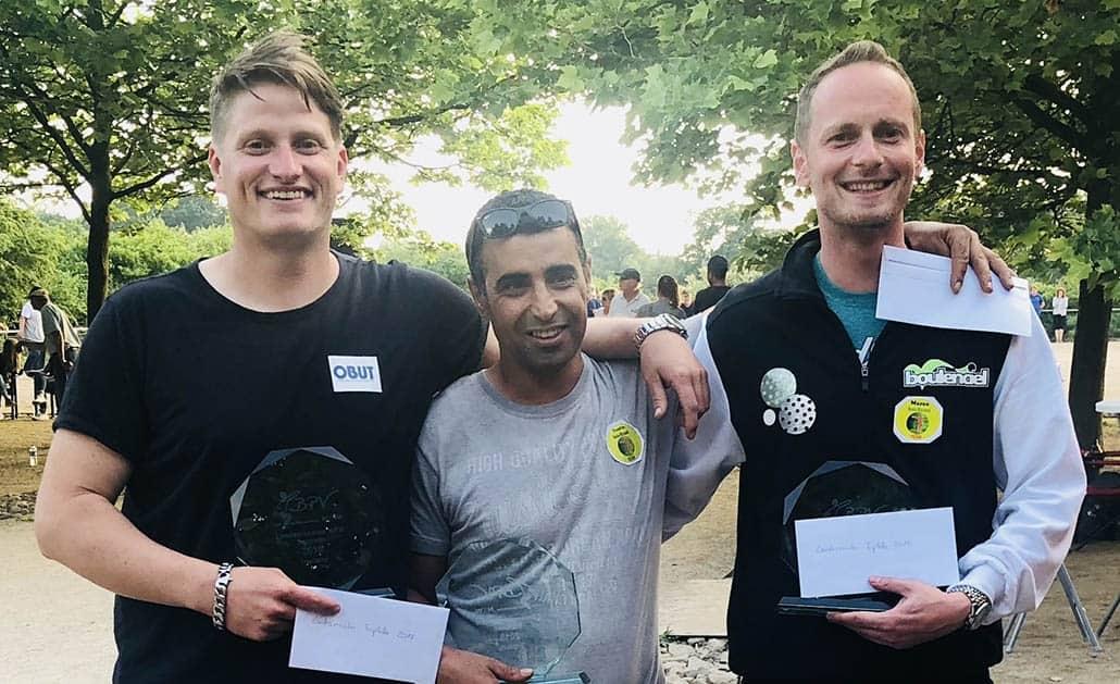 Die NRW Landesmeister Triplette 2018 Philipp, Toufik und Marco